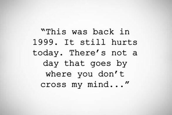 """Dear Michael """"It still hurts today…"""""""